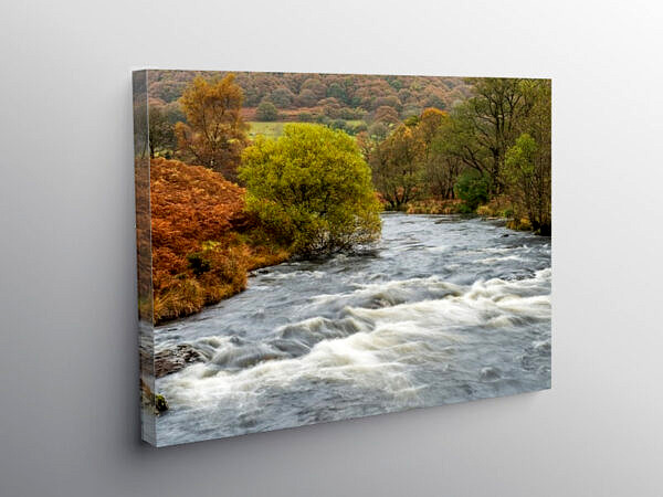 River Tywi Below Llyn Brianne Reservoir Carmarthenshire, Canvas Print
