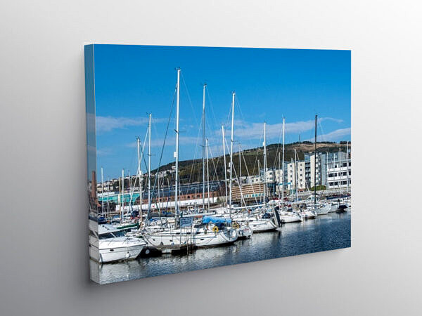 Swansea Marina on the South Wales Coast, Canvas Print