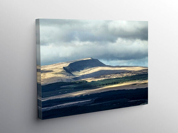 Fan Hir in the Fforest Fawr area of the Brecon Beacons Powys, Canvas Print