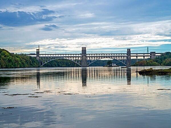 Britannia Bridge Menai Straits Anglesey