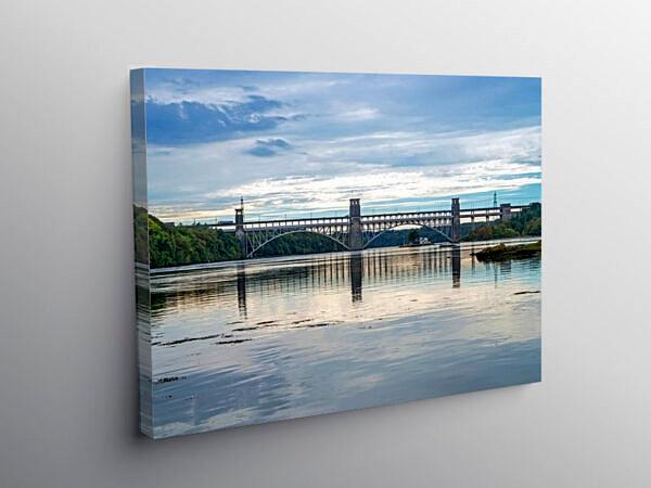 Britannia Bridge Menai Straits Anglesey, Canvas Print