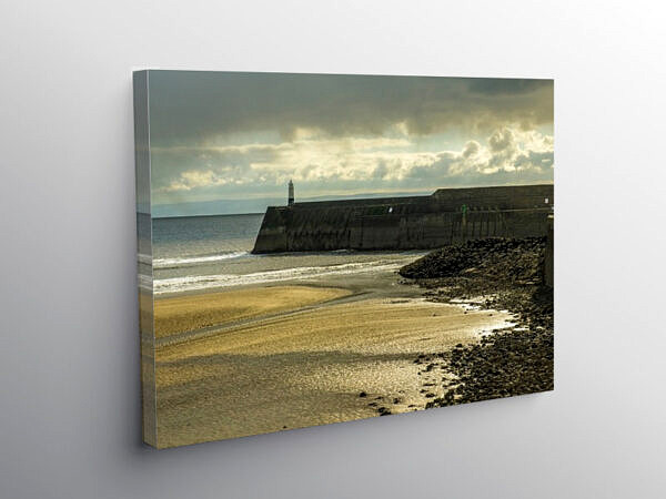 Porthcawl Pier and Lighthouse, Canvas Print