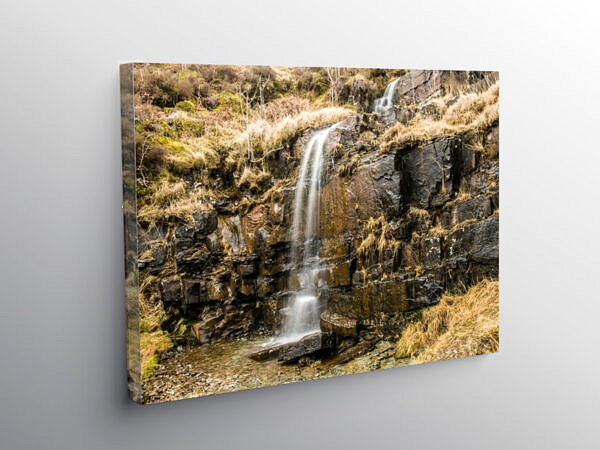 Waterfall beside the A470 over the Brecon Beacons, Canvas Print