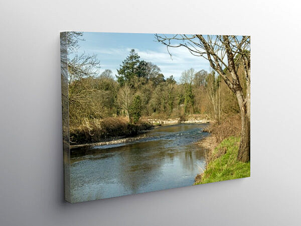 The River Ogmore at Merthyr Mawr south Wales, Canvas Print