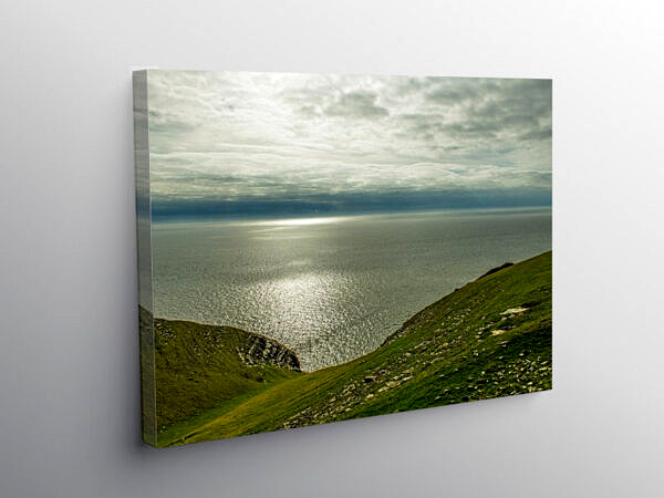 Out to Sea from Southerndown Glamorgan Heritage Coast, Canvas Print