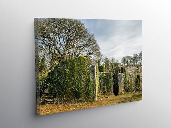 Candlestone Castle Ruins Marthyr Mawr Bridgend, Canvas Print