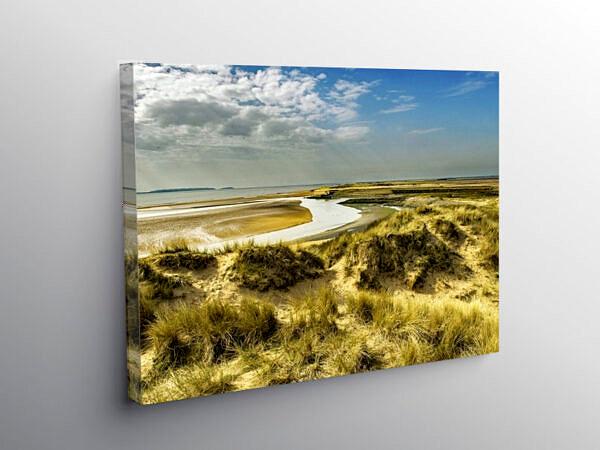 Sand Dunes Burry Port Beach Carmarthenshire, Canvas Print