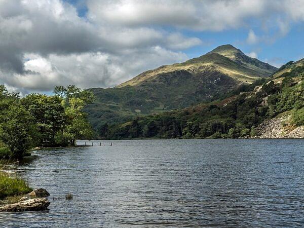 Llyn Gwynant Lake in the Nant Gwynant Valley Snowdonia