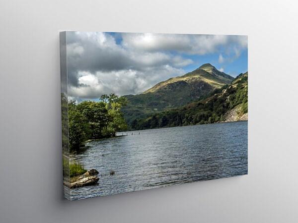Llyn Gwynant Lake in the Nant Gwynant Valley Snowdonia, Canvas Print