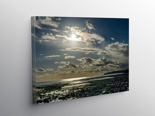 The Beach at Llantwit Major looking West, Canvas Print