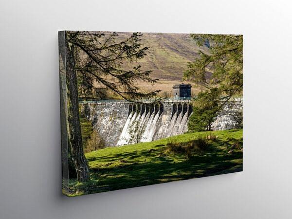 The Grwyne Fawr Reservoir Dam, Canvas Print