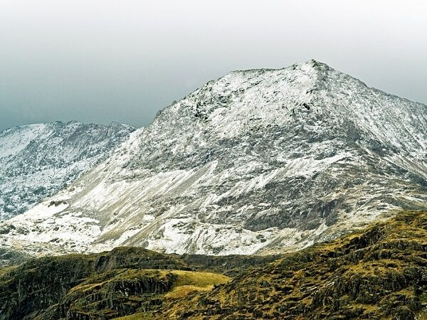 Ctib Goch under Winter Snow Snowdonia
