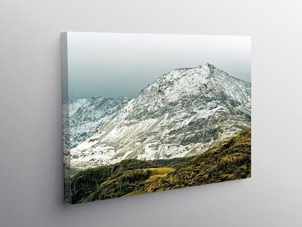 Crib Goch under Winter Snow Snowdonia, Canvas Print