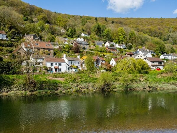 Llandogo Village in the Wye Valley across the River Wye