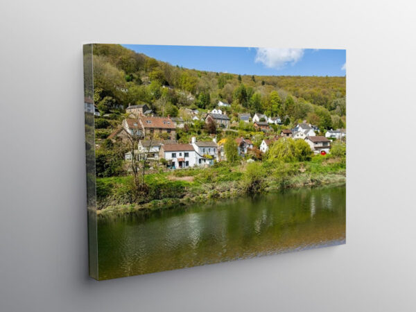 Llandogo Village in the Wye Valley across the River Wye, Canvas Print