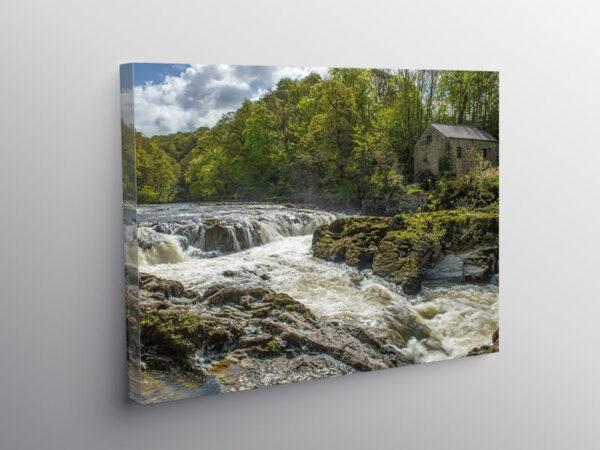 Cenarth Falls Carmarthenshire Pembrokeshire, Canvas Print
