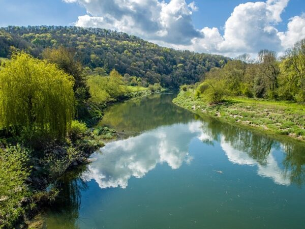 River Wye from Brockweir Bridge Wye Valley