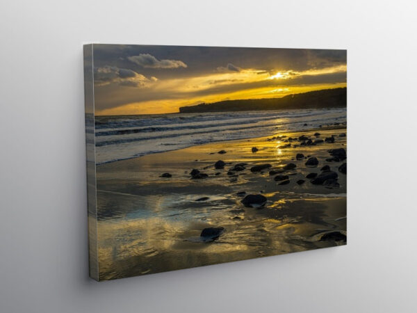 Llantwit Major Beach Glamorgan Heritage Coast Sunset, Canvas Print