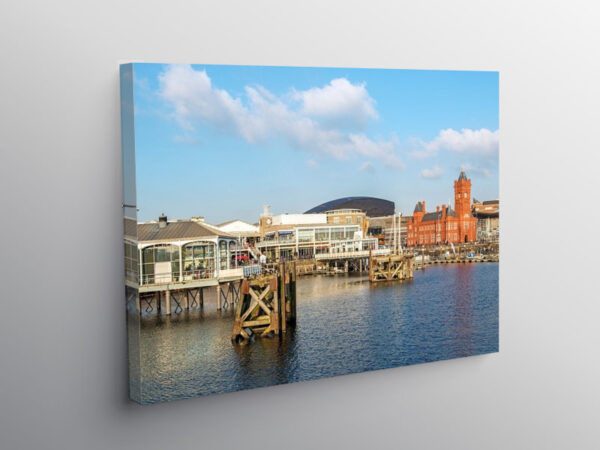 The Waterfront at Cardiff Bay, Canvas Print