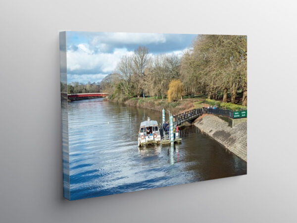 River Taff and Ferry at Bute Park Cardiff, Canvas Print