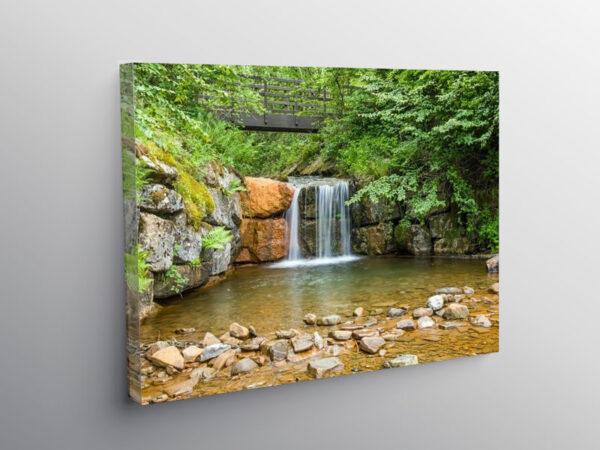 Cwm Clydach Countryside Park Waterfall, Canvas Print