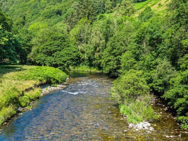 River Tywi flowing below Llyn Brianne Reservoir