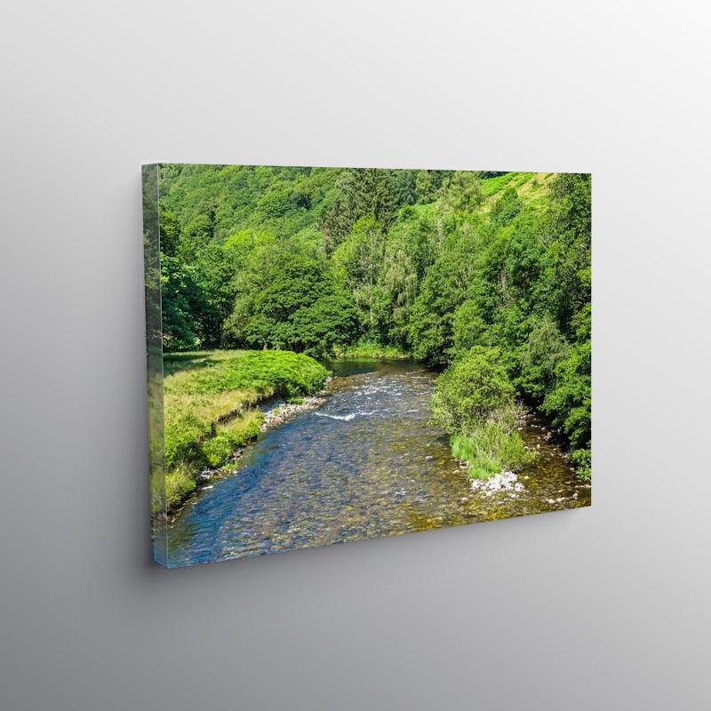 River Tywi flowing below Llyn Brianne Reservoir, Canvas Print