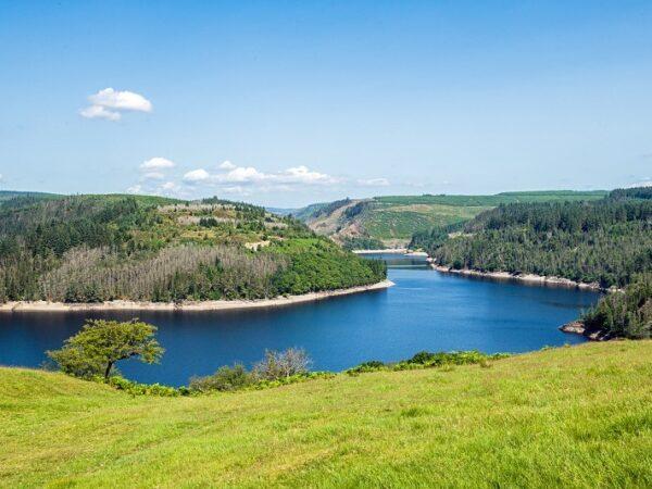 Part of Llyn Brianne Reservoir Carmarthenshire