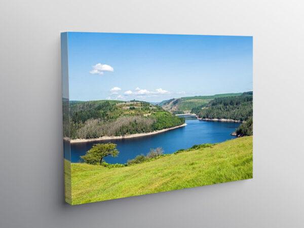 Part of Llyn Brianne Reservoir Carmarthenshire, Canvas Print