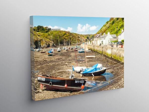 Abergwaun or Lower Fishguard Pembrokeshire, Canvas Print