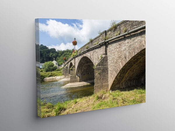 The Usk Bridge crossing the River Usk in Monmouthshire, Canvas Print