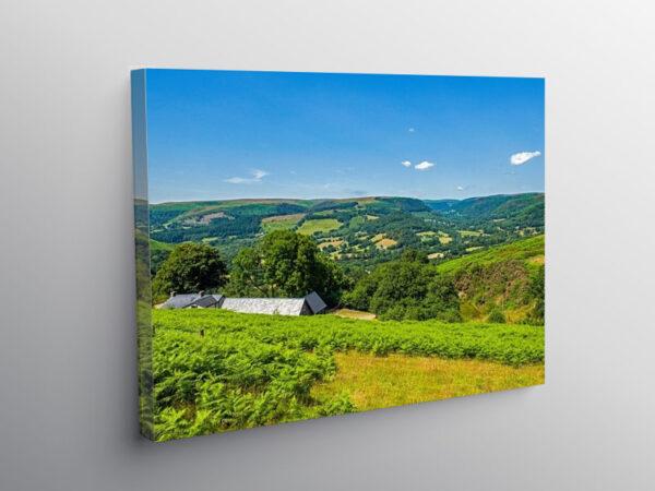 Upper Tywi Valley Carmarthenshire, Canvas Print