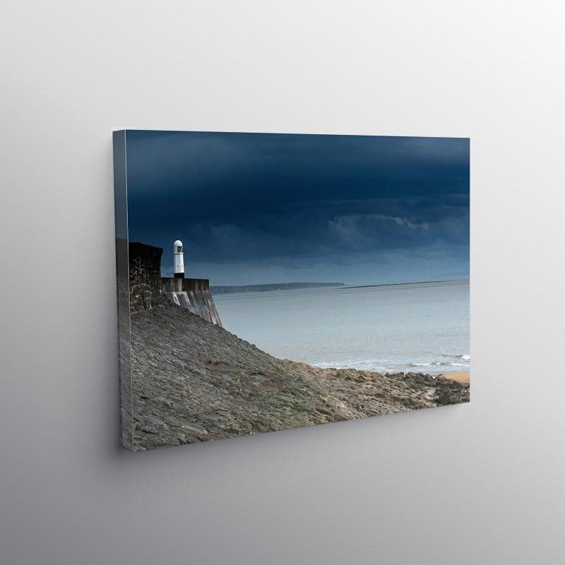 Porthcawl Lighthouse South Wales Coast, Canvas Print