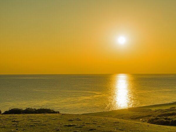 Sun set Bristol Channel Ogmore by Sea