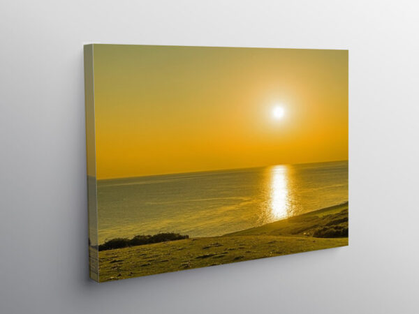 Sunset over the Bristol Channel Ogmore by Sea, Canvas Print