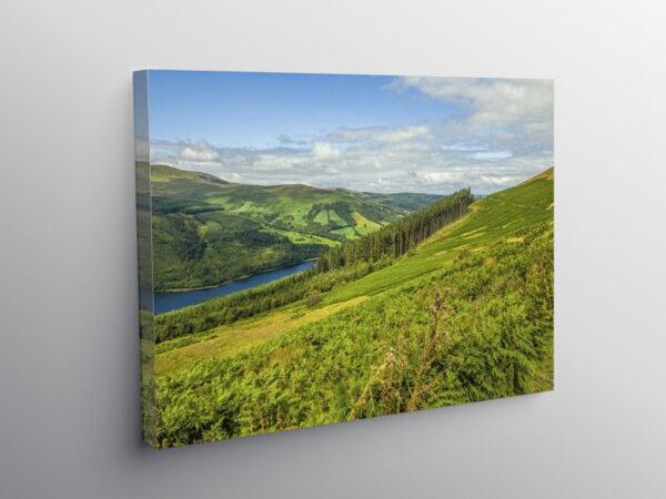Talybont Reservoir Brecon Beacons Wales, Canvas Print
