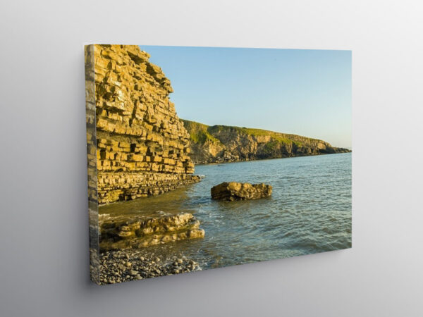 Sun on the Eastern end of Dunraven Bay, Canvas Print