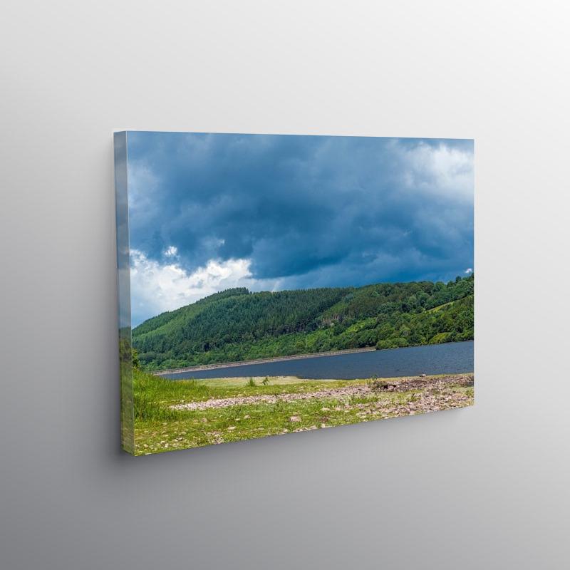 Talybont Reservoir in Summer Brecon Beacons, Canvas Print