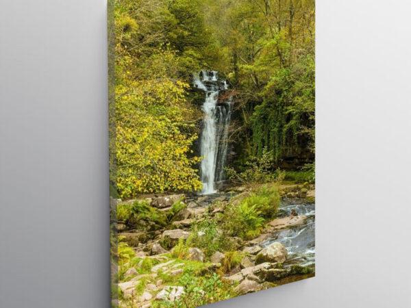 Blaen y Glyn Waterfall Brecon Beacons, Canvas Print